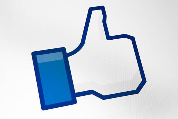 Facebook Like Button stock photo