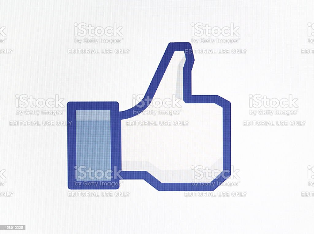 Facebook Like royalty-free stock photo