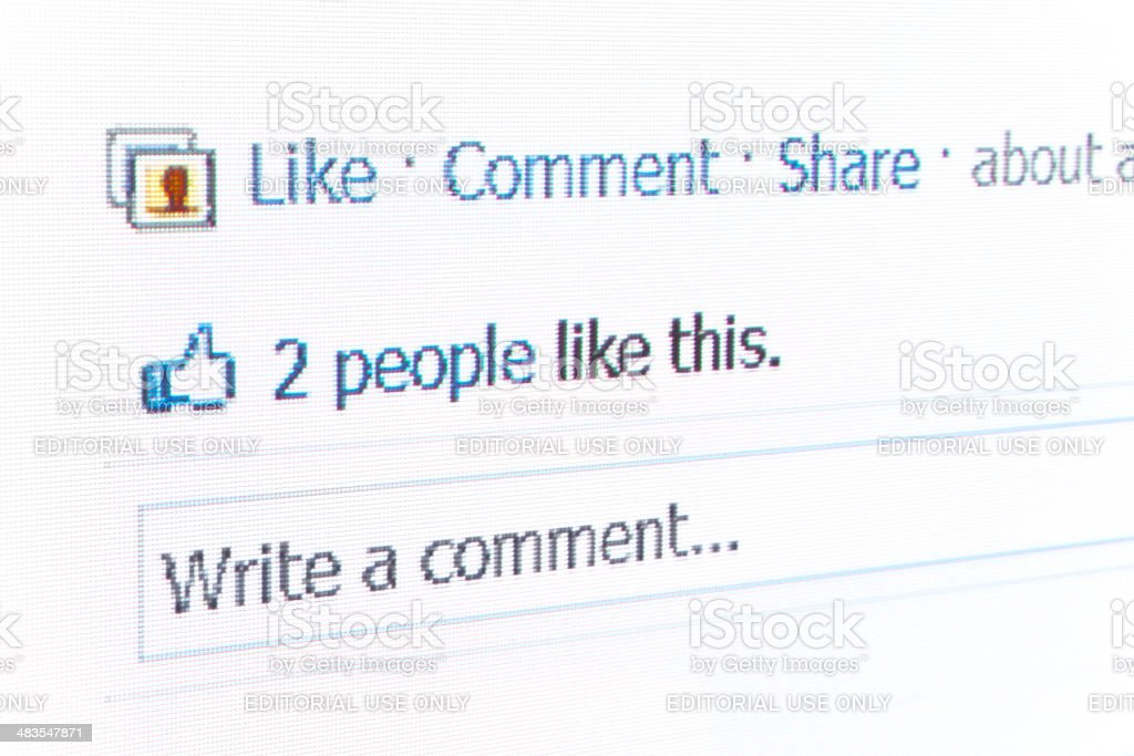 Facebook Like Text royalty-free stock photo