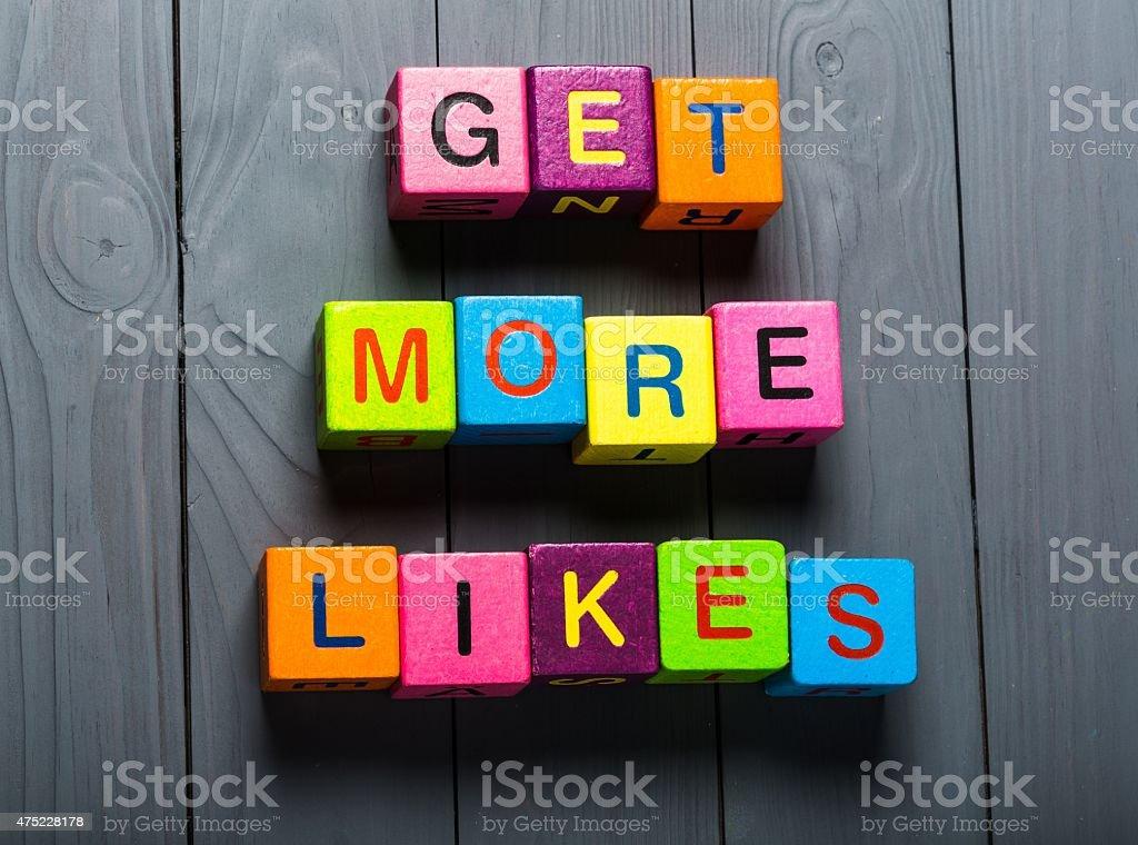 Facebook, mi piace, fan - foto stock