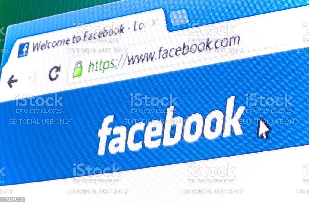 Facebook Logo stock photo