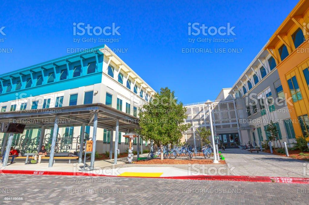 Facebook main entrance stock photo