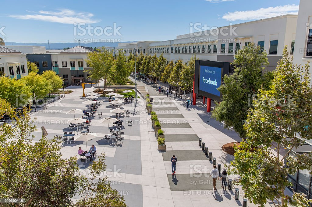 Facebook Menlo Park Campus Headquarters stock photo