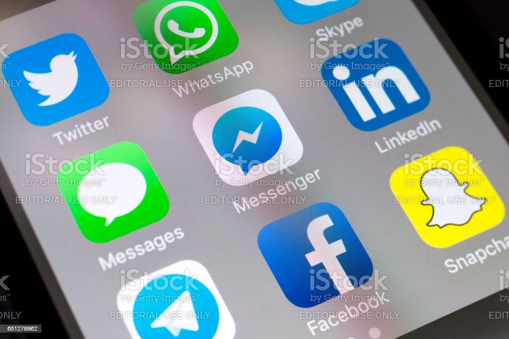 Facebook Messenger Messages Linkedin And Other Social Media Apps On