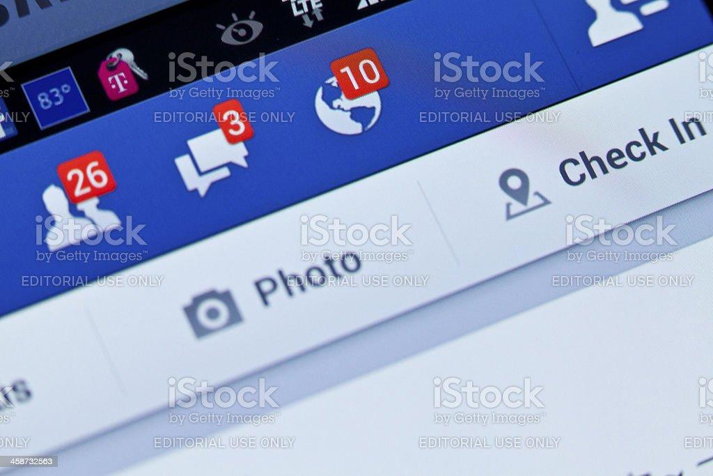 Facebook notifications stock photo