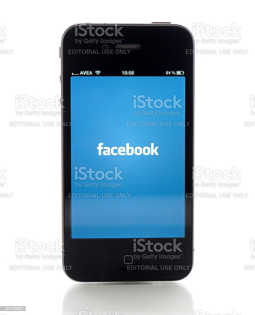 Facebook on iPhone stock photo