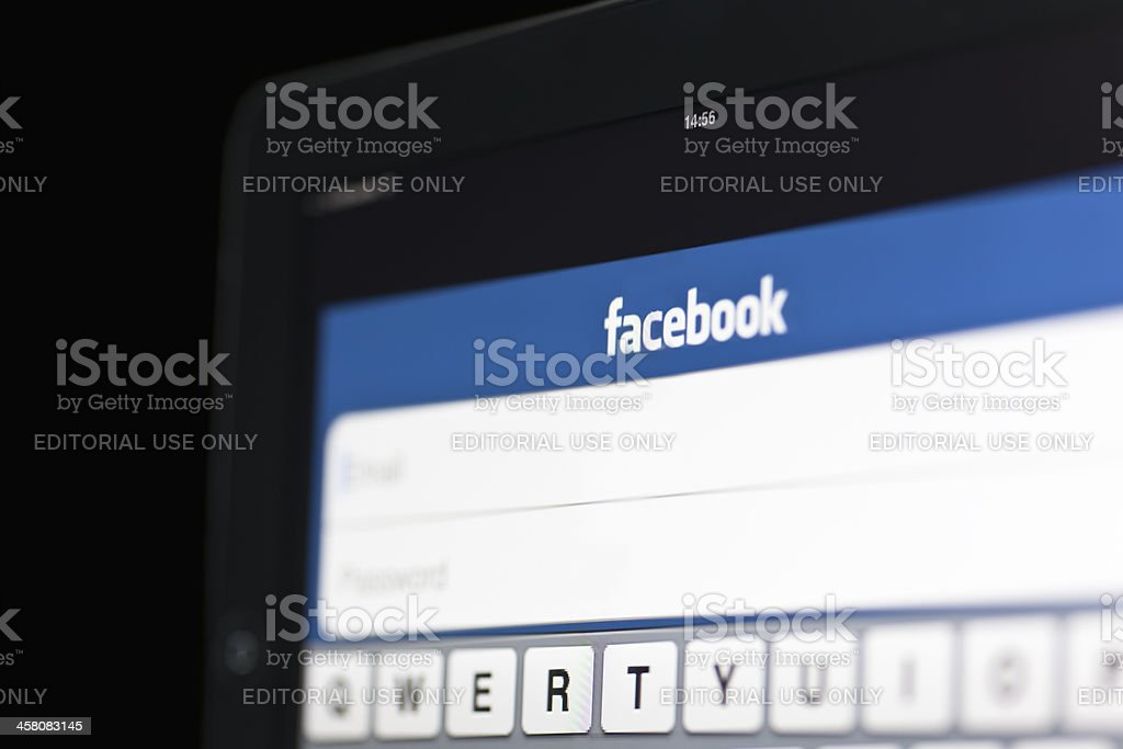 Facebook on the move stock photo