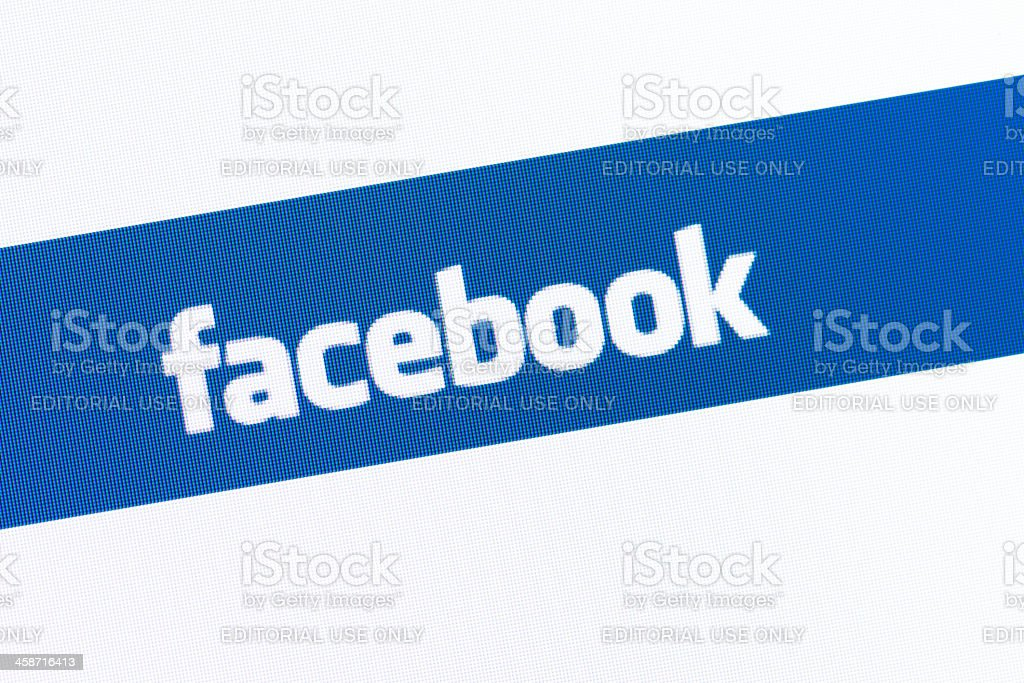 Facebook page on browser window royalty-free stock photo