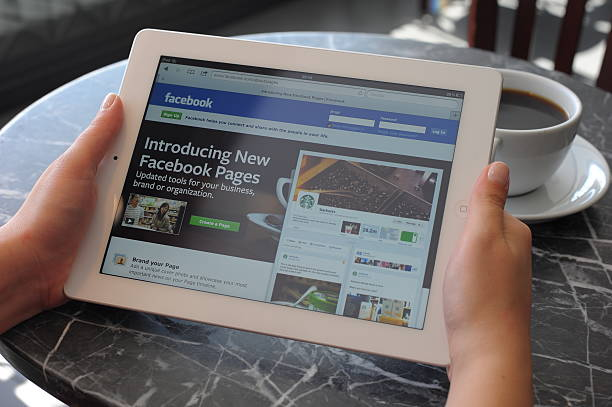 facebook pages - page stock photos and pictures