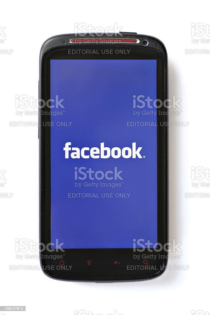 Facebook phone stock photo