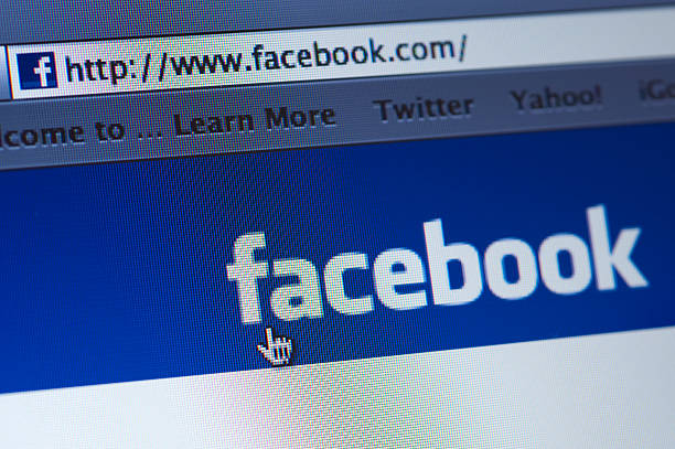 facebook - page stock photos and pictures