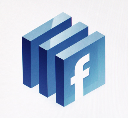 Istanbul, Turkey - October 14, 2011: A close-up view to the Facebook logo on LCD screen. This style is one of the logos symbolizing facebook.