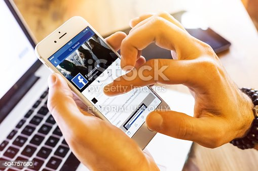 istock Facebook profile on Apple iPhone 6s 504757660