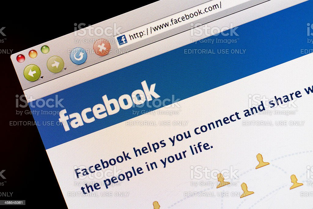 Facebook Social Networking website royalty-free stock photo