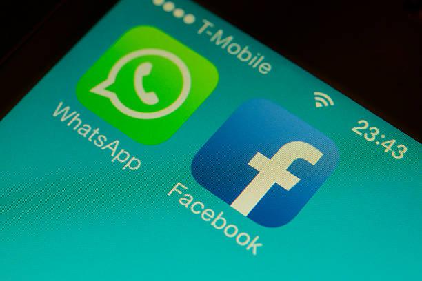 Facebook Whatsapp stock photo