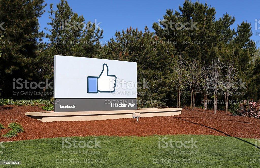 Facebook World Headquarters stock photo