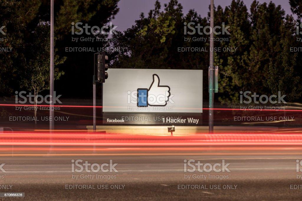 Facebook-1 Hacker Way stock photo