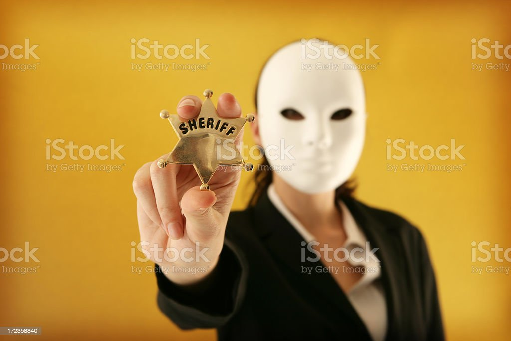 Faceless Authority royalty-free stock photo