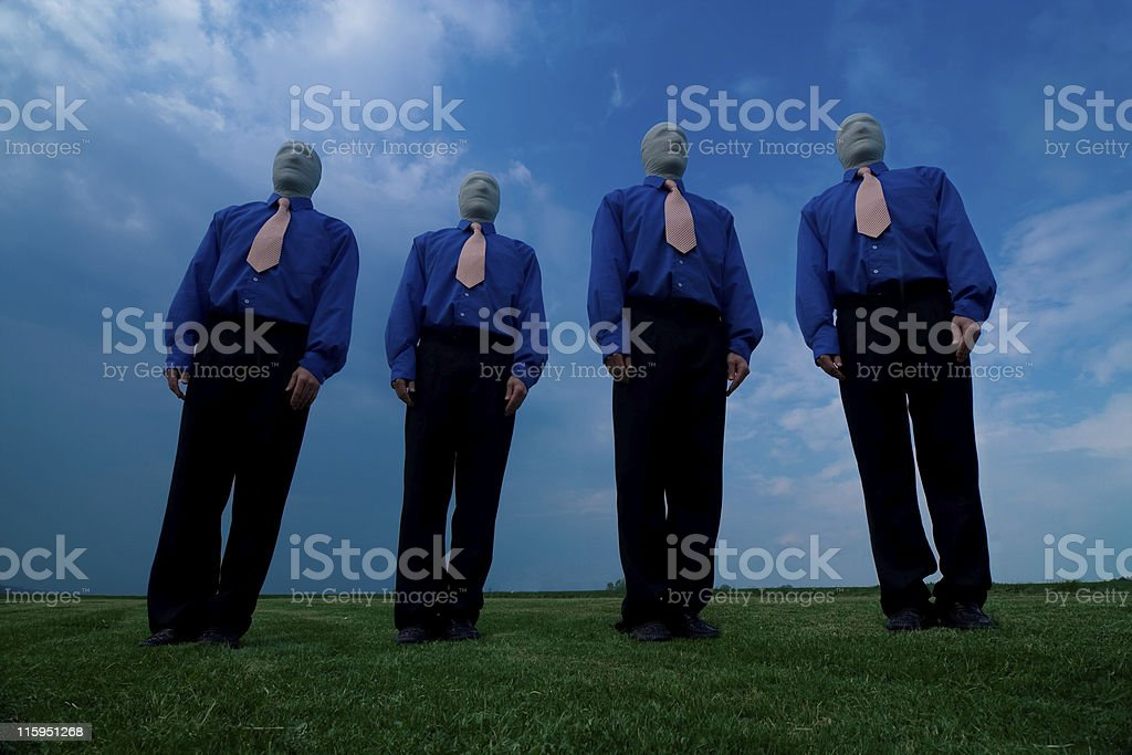 Faceless Male Group royalty-free stock photo