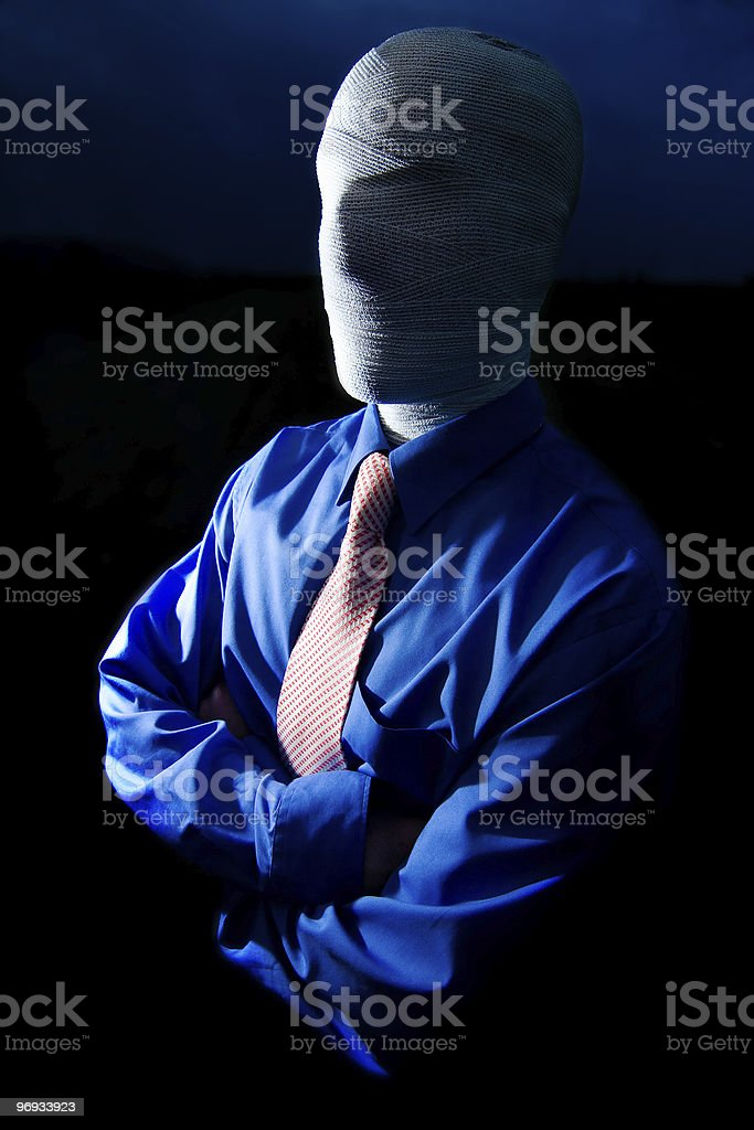 Faceless Man royalty-free stock photo