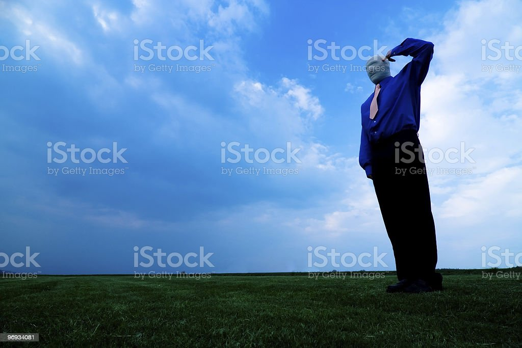 Faceless Man royalty-free stock photo