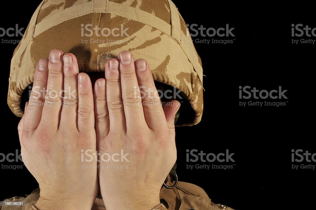 Faceless Soldier stock photo
