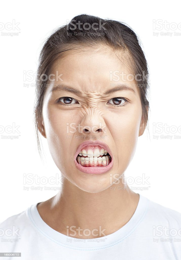 Faces: Angry! stock photo