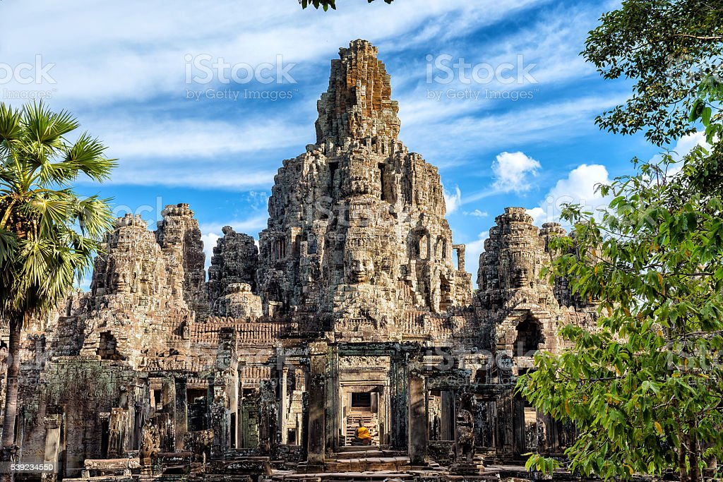 Faces at Bayon Temple royalty-free stock photo