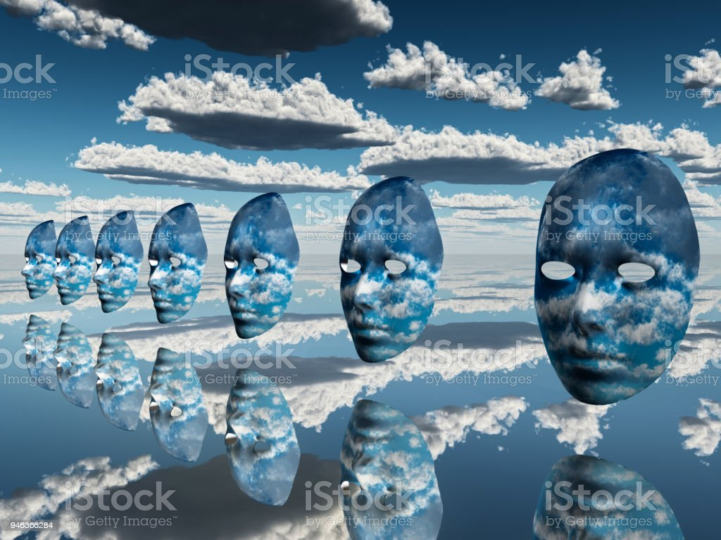 Faces in the Sky stock photo