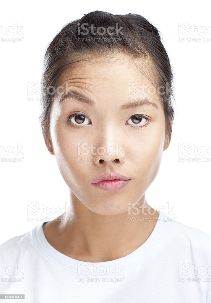 Faces: Lifted Eyebrow stock photo