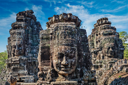 istock Faces of Bayon temple, Angkor, Cambodia 1131162453