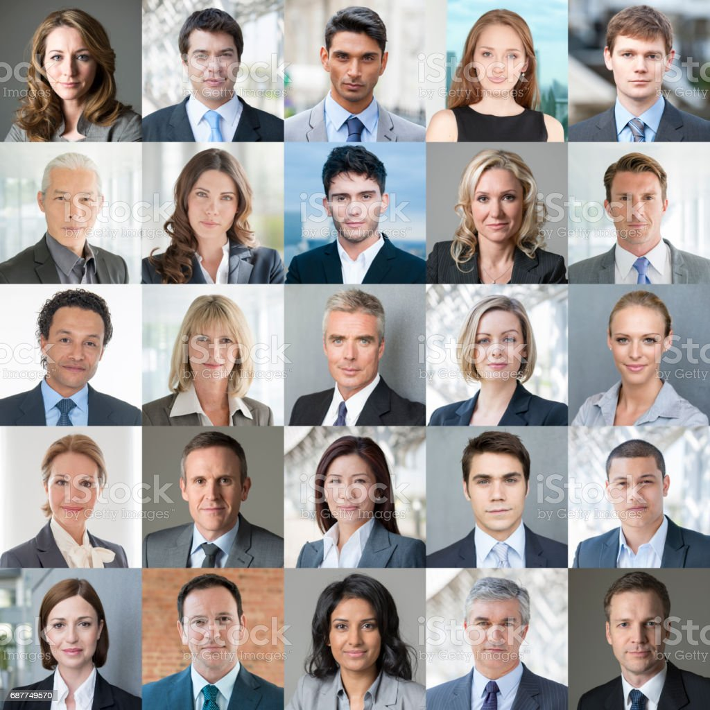 Faces of Business - Confident Colour Image stock photo