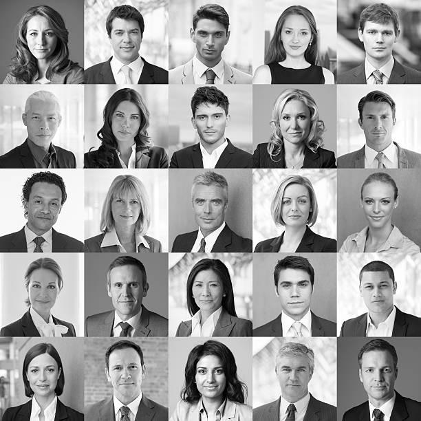 Facce di Business - foto stock