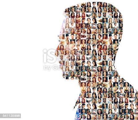 istock Faces of mankind 541135998