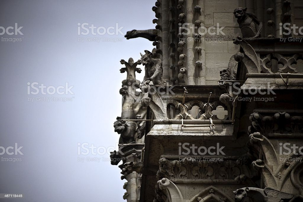 faces of Notre Dame royalty-free stock photo