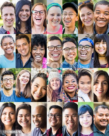 668617538 istock photo Faces of Young Americans 1217898376