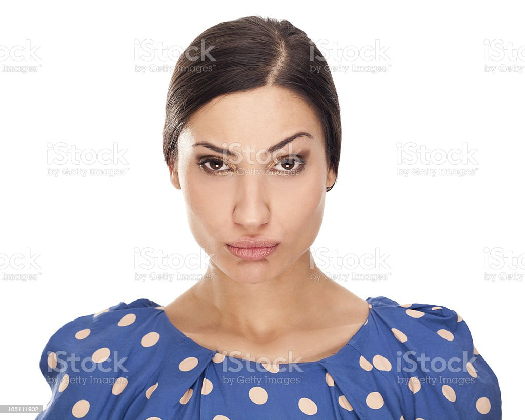 Faces: Raised Eyebrow stock photo