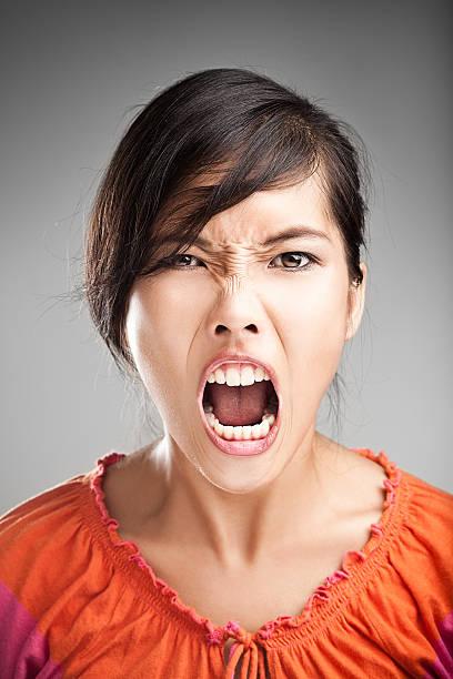 Faces - Scrrream stock photo