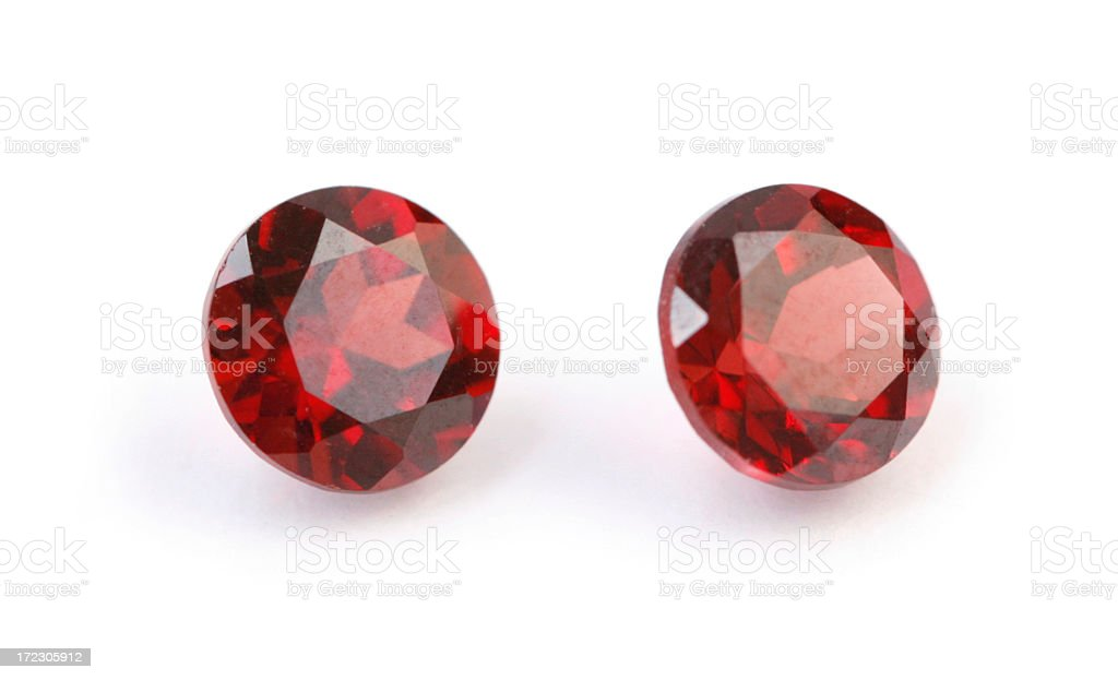 Faceted Garnets stock photo