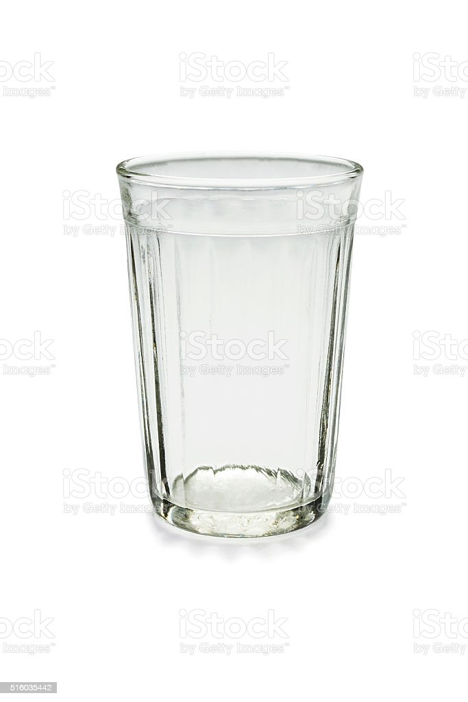 Faceted glass stock photo