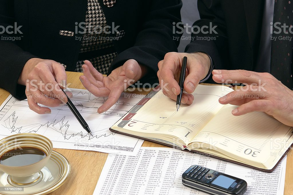Face-to-face business meeting royalty-free stock photo