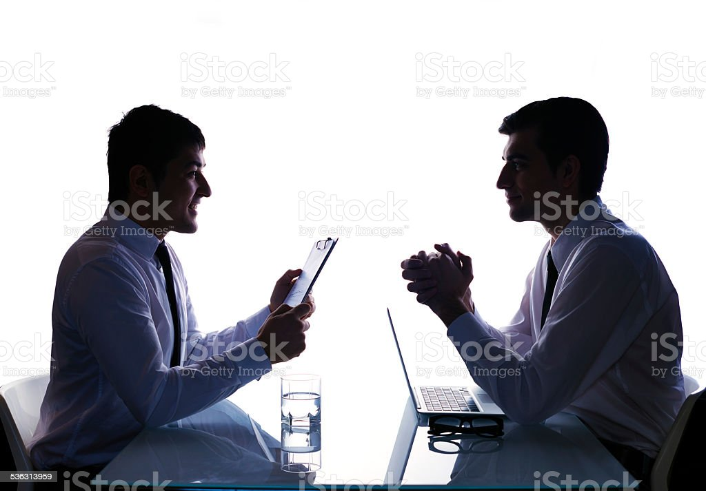Face-to-face meeting stock photo