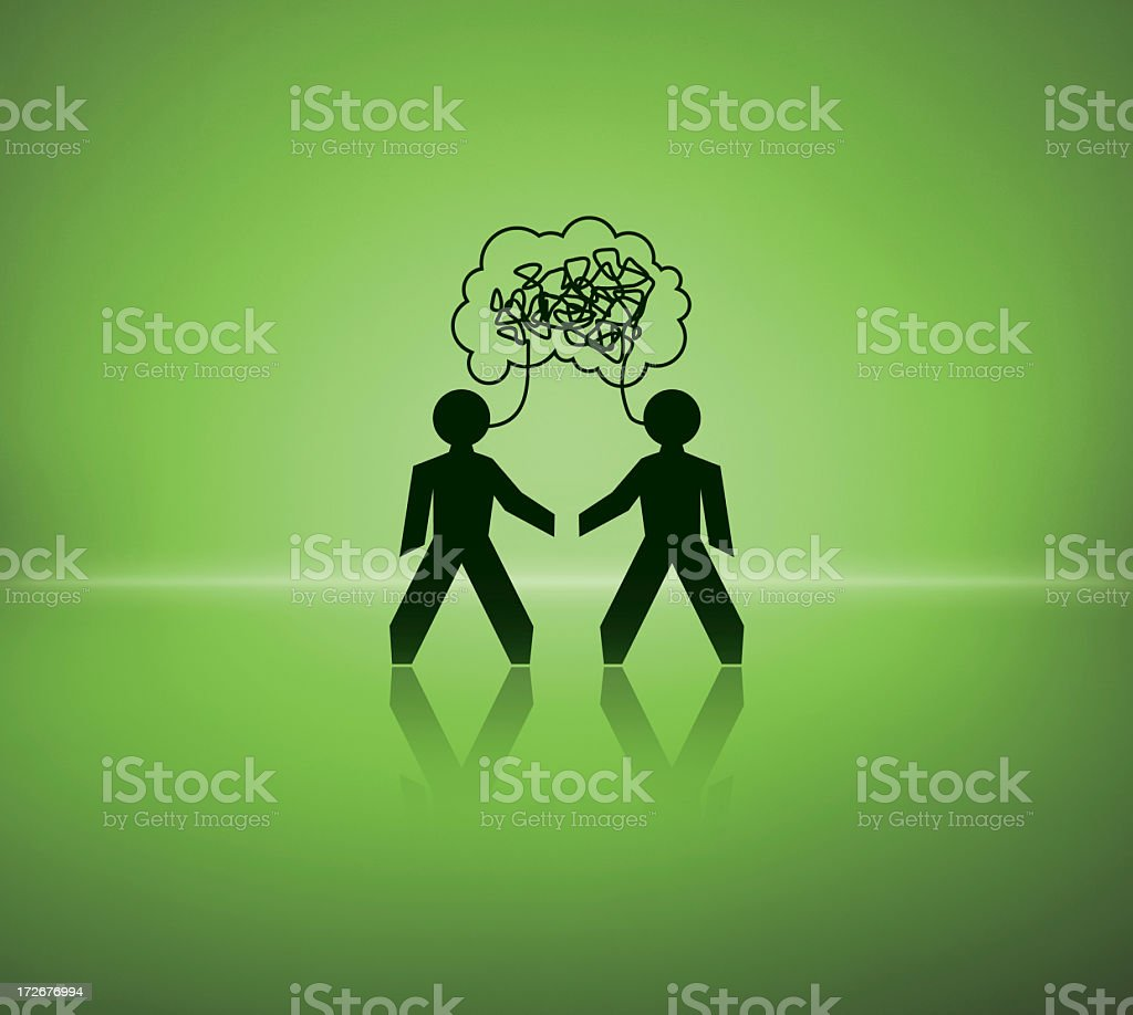 Face-to-face royalty-free stock photo