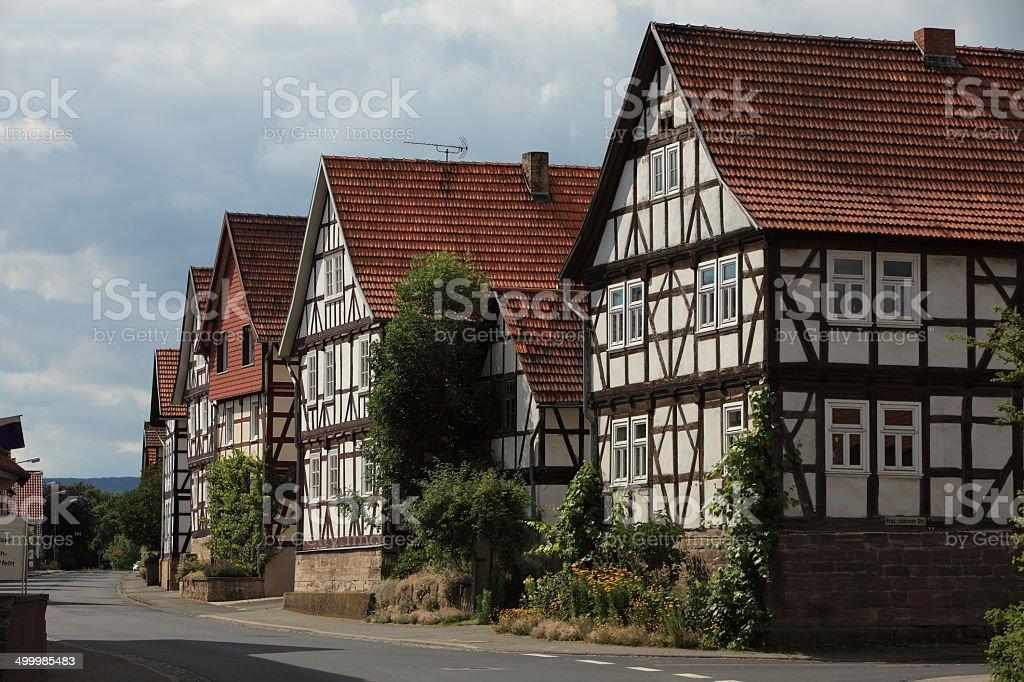 Fachwerkdorf Herleshausen in Hessen stock photo