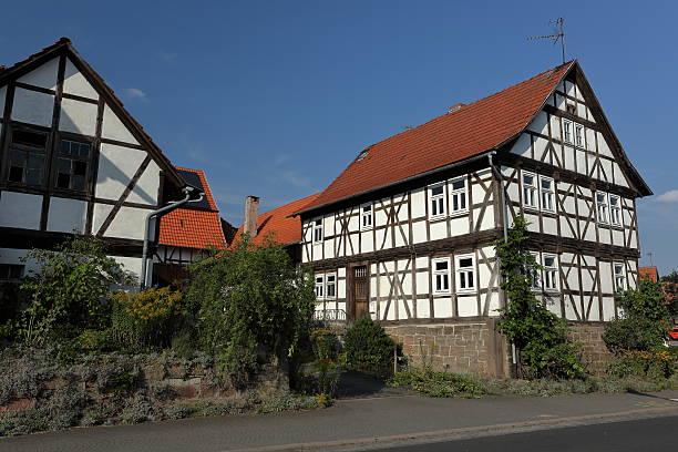 Fachwerkerhäuser in Hessen in Deutschland Fachwerkerhäuser in Hessen in Deutschland half timbered stock pictures, royalty-free photos & images