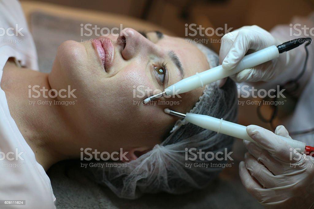 Facial beauty treatment stock photo