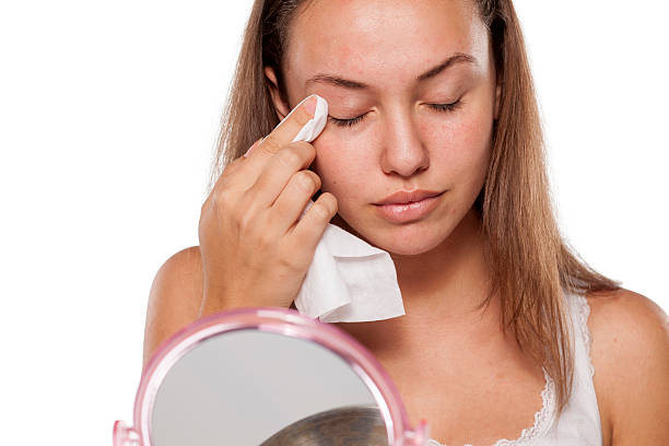 facial care - eyelid stock pictures, royalty-free photos & images