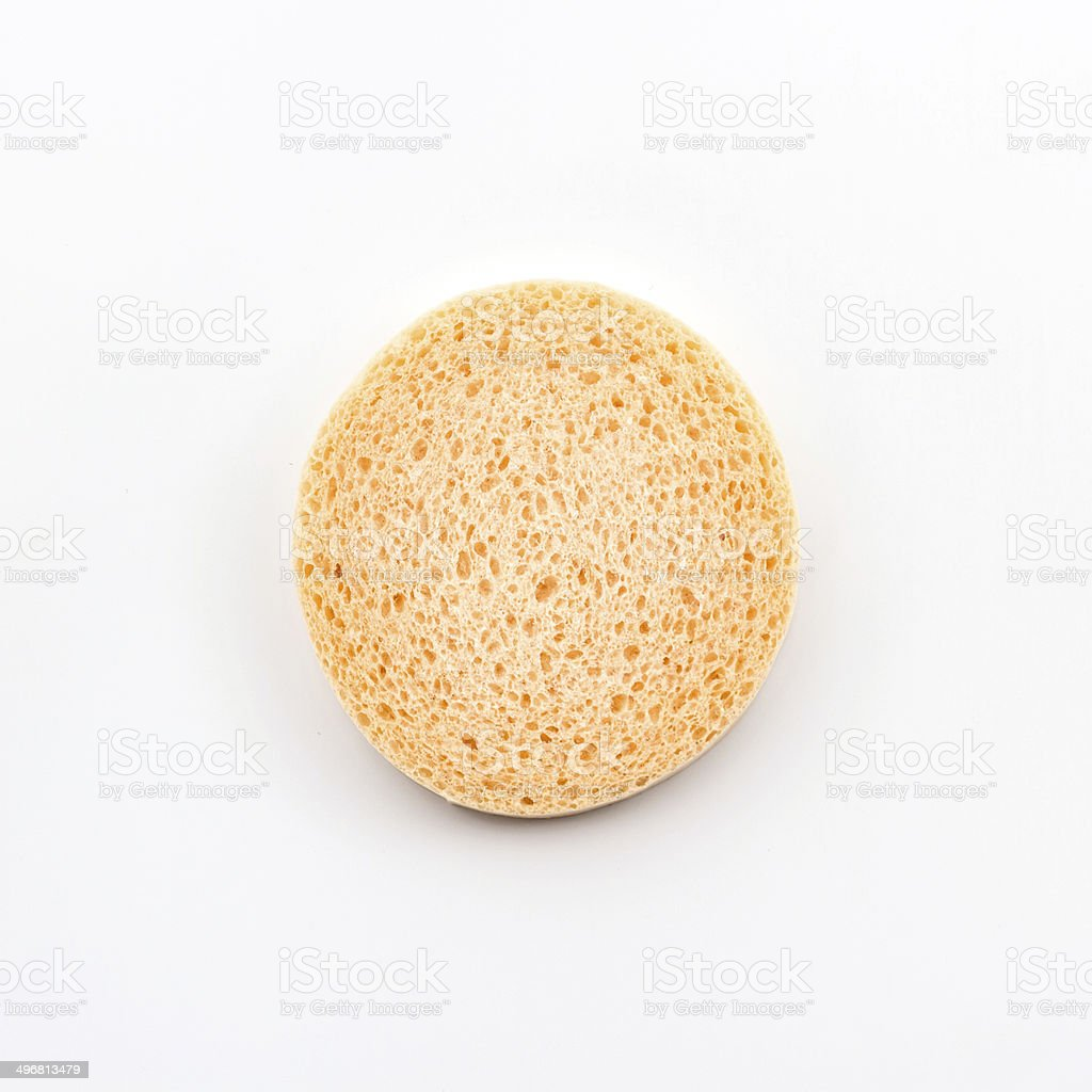 Facial cellulose sponge. stock photo