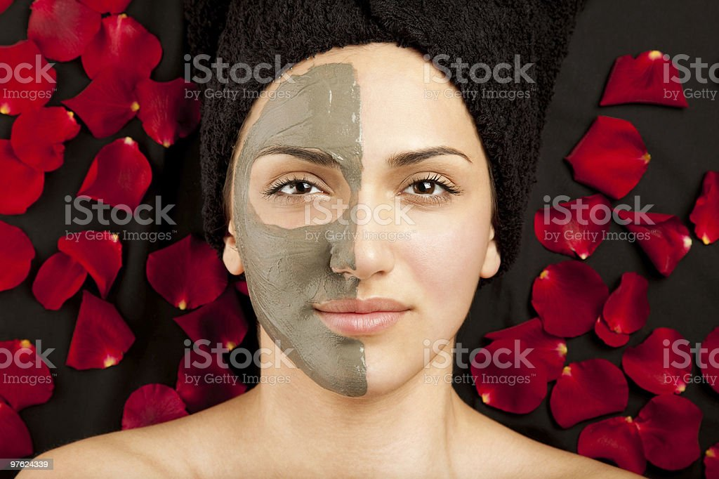 Masque à l'argile du visage photo libre de droits