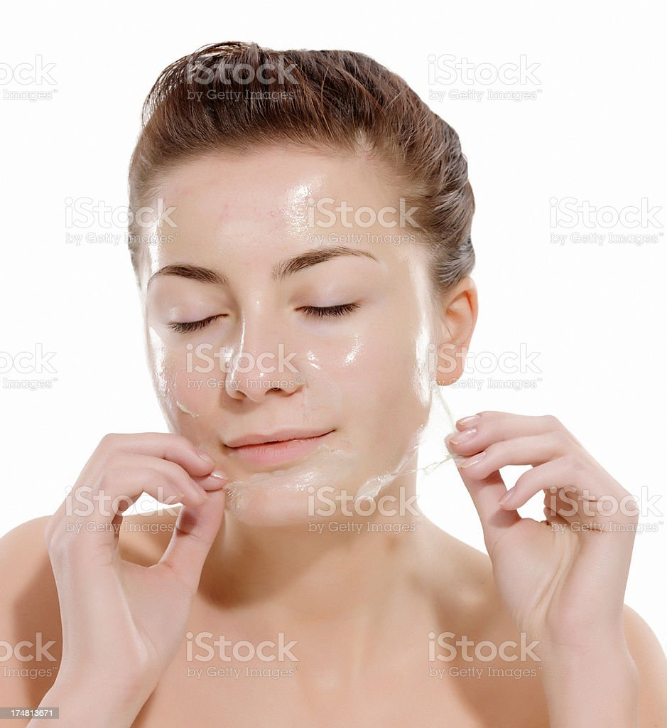 facial clean royalty-free stock photo